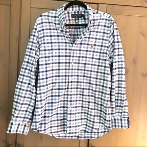 Ralph Lauren Gingham Long Sleeve Button Up Shirt